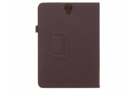 Samsung Galaxy Tab S3 9.7 hoesje - Bruine effen tablethoes voor