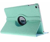 Turquoise 360° draaibare krokodil tablethoes iPad (2017)