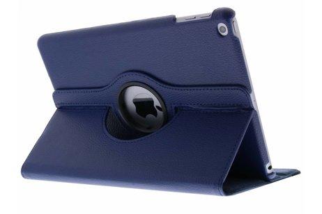 iPad (2017) hoesje - Blauwe 360° draaibare tablethoes