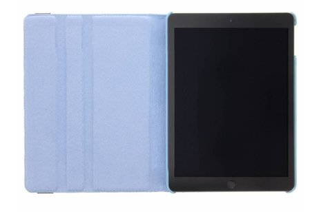 iPad (2017) hoesje - Lichtblauwe 360° draaibare polka