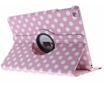 360° draaibare polka dot tablethoes iPad (2017)