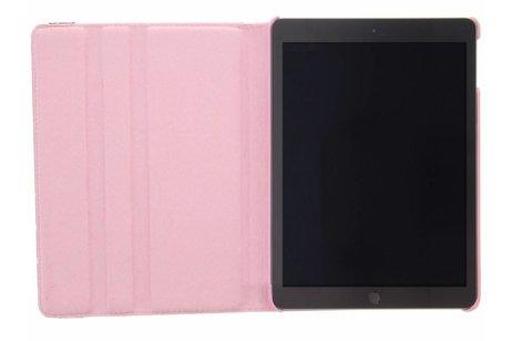 iPad (2017) hoesje - Roze 360° draaibare polka