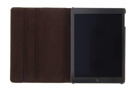 iPad (2017) hoesje - Bruine 360° draaibare tablethoes