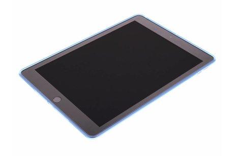 iPad Pro 9.7 hoesje - Blauwe transparante gel case