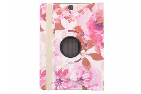 Samsung Galaxy Tab S2 9.7 hoesje - 360° draaibare bloemen design