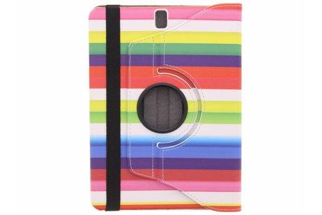 Samsung Galaxy Tab S3 9.7 hoesje - 360° draaibare regenboog design