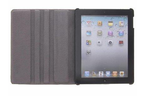360° draaibare bloemen design tablethoes voor de iPad 2 / 3 / 4