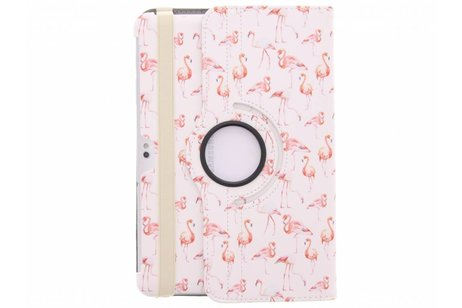 Samsung Galaxy Tab 2 10.1 hoesje - 360° draaibare flamingo design