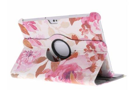Samsung Galaxy Tab 2 10.1 hoesje - 360° draaibare bloemen design