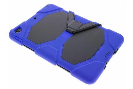 Blauwe extreme protection army case voor de iPad (2018) / (2017)