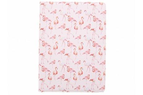 iPad Pro 12.9 hoesje - 360° draaibare flamingo design