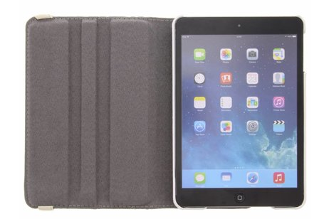 360º draaibare bloemen design tablethoes voor de iPad Mini / 2 / 3