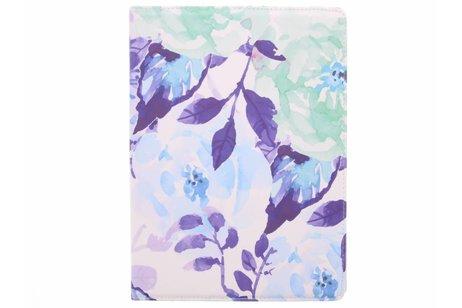 iPad Pro 12.9 hoesje - 360° draaibare bloemen design