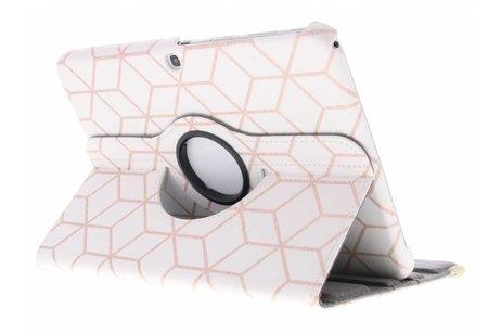 Samsung Galaxy Tab 3 10.1 hoesje - 360° draaibare cubes rose