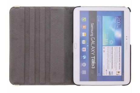 Samsung Galaxy Tab 3 10.1 hoesje - 360° draaibare koe design