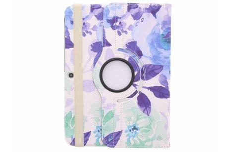 Samsung Galaxy Tab 3 10.1 hoesje - 360° draaibare bloemen design
