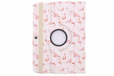 Samsung Galaxy Tab 3 10.1 hoesje - 360° draaibare flamingo design