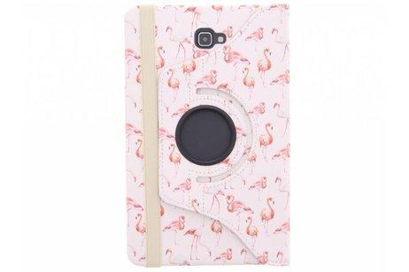 Samsung Galaxy Tab A 10.1 (2016) hoesje - 360° draaibare flamingo design