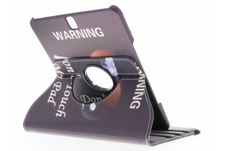 Samsung Galaxy Tab S3 9.7 hoesje - 360° draaibare warning design