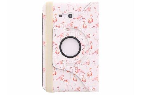 Samsung Galaxy Tab 3 Lite 7.0 hoesje - 360° draaibare flamingo design