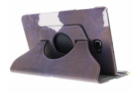 Samsung Galaxy Tab A 10.1 (2016) hoesje - 360° draaibare koe design