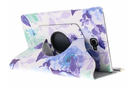 Samsung Galaxy Tab A 10.1 (2016) hoesje - 360° draaibare bloemen design