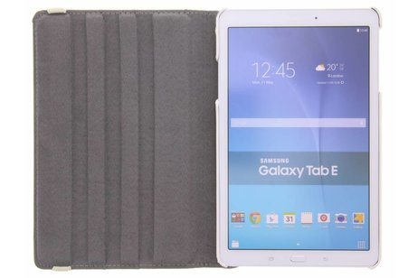 Samsung Galaxy Tab E 9.6 hoesje - 360° draaibare flamingo design