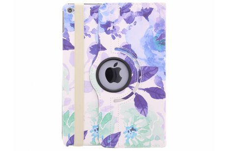 iPad Air 2 hoesje - 360° draaibare bloemen design