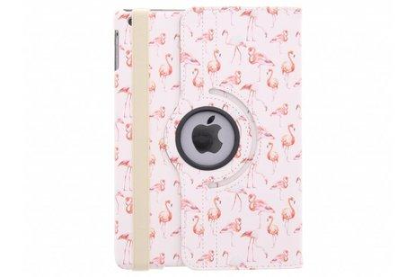 iPad Air hoesje - 360° draaibare flamingo design