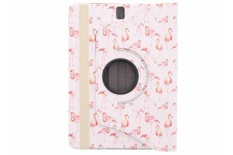 Samsung Galaxy Tab S3 9.7 hoesje - 360° draaibare flamingo design
