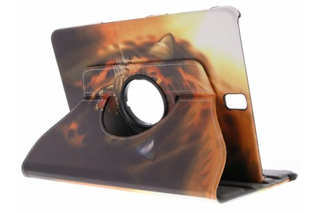 360° draaibare tijger design hoes voor de Samsung Galaxy Tab S3 9.7