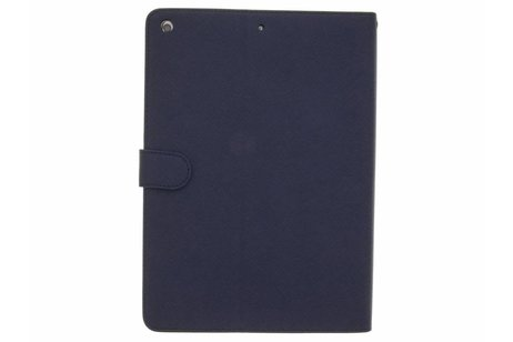 iPad (2017) hoesje - Blauwe luxe bookcover met