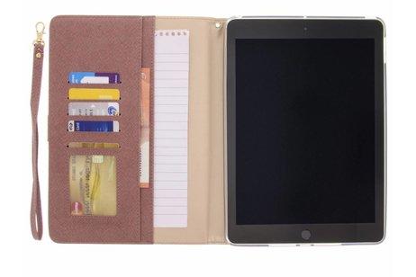 iPad (2017) hoesje - Roze luxe bookcover met