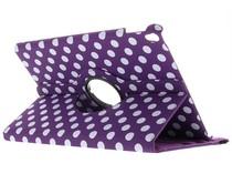 Polka Dot Violet 360º Couverture De Comprimés Rotative Pour Ipad Pro 12.9 fmOntc