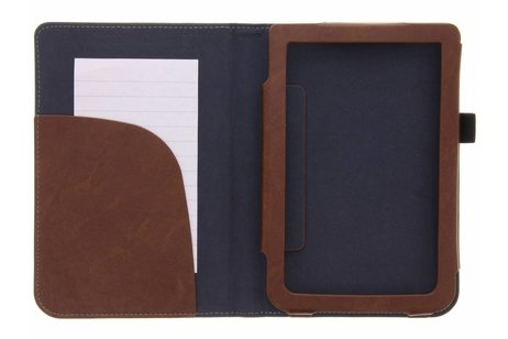 Pocketbook Touch Lux 3 hoesje - Bruine luxe effen book