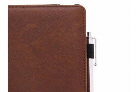 hoesje - Bruine luxe effen book