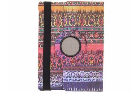 Samsung Galaxy Tab S 10.5 hoesje - 360° draaibare fuchsia aztec