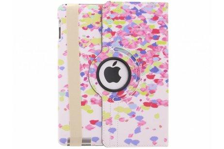 360° draaibare confetti design hoes voor de iPad 2 / 3 / 4