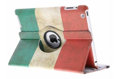 360° draaibare Italiaanse vlag design hoes voor de iPad 2 / 3 / 4