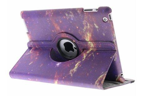 360° draaibare galaxy design hoes voor de iPad 2 / 3 / 4