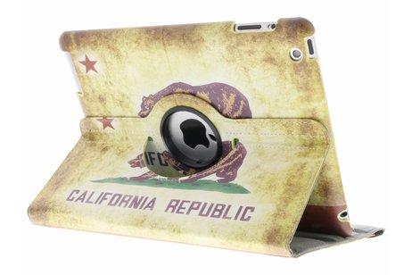 360° draaibare California Republic design hoes voor de iPad 2 / 3 / 4