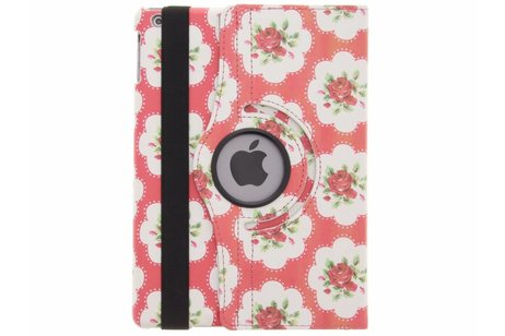 iPad Air hoesje - 360° draaibare roze rozen