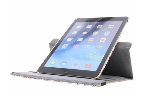 iPad Air hoesje - 360° draaibare gekleurd aztec