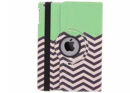 iPad Air hoesje - 360° draaibare groene zigzag
