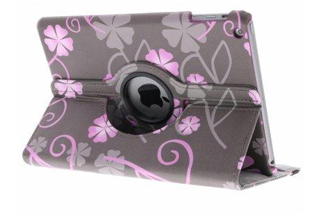 iPad Air hoesje - 360° draaibare roze bloemetjes