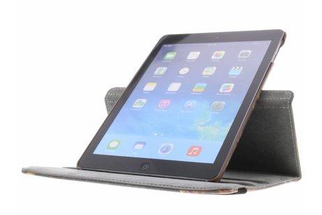 iPad Air hoesje - 360° draaibare bruine bladeren