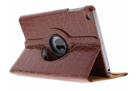 Bruine 360° draaibare krokodil tablethoes voor de iPad Mini / 2 / 3