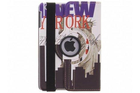 360° draaibare New York Vrijheidsbeeld design hoes voor de iPad Mini / 2 / 3