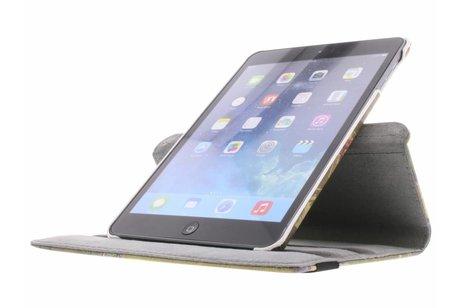 360° draaibare Parijs London design hoes voor de iPad Mini / 2 / 3