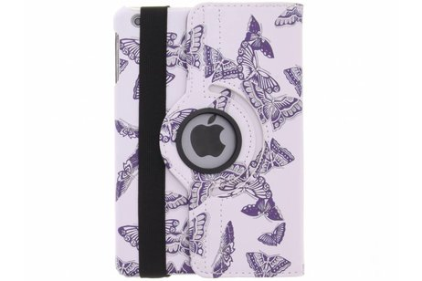 360° draaibare paarse vilders design hoes voor de iPad Mini / 2 / 3
